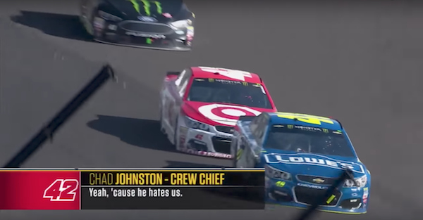Tempers flared even among teammates during the tension-filled Brickyard 400