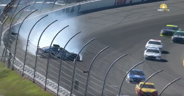 A former champion fails to finish for the second straight week at Pocono
