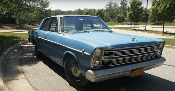 Watch a young man struggle to handle this awesome 1966 Ford Galaxie