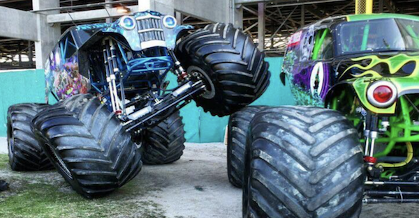 Monster truck freestyles and flips with the sheer grace of a ballerina