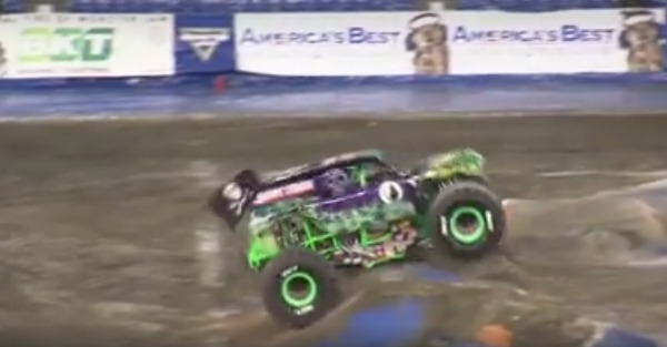 Gravedigger wins the first ever two-wheel competition with style