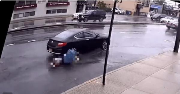 Horrific video catches unlicensed driver running over 62-year-old woman and fleeing