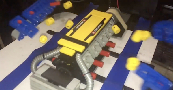 Lego motor blows up, and it's spectacular