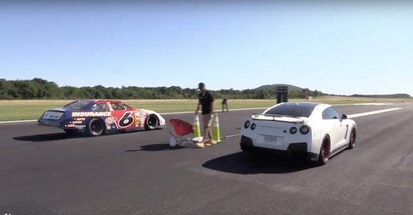 Here's what happens when a NASCAR stock car goes to a half mile event