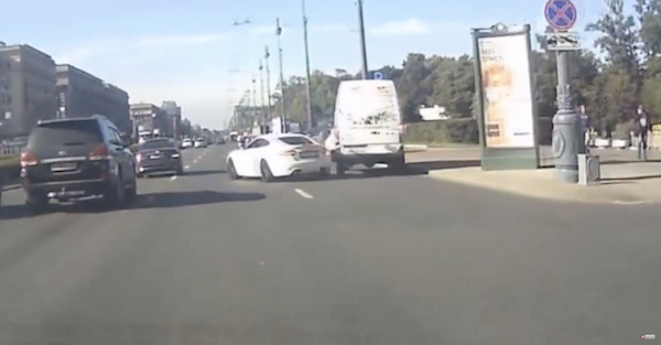 Jaguar gets destroyed in ill-advised street race