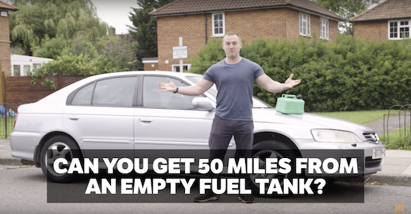 Find out how far you can go when the tank is on empty