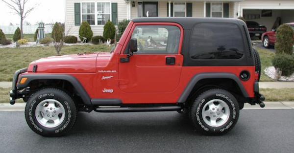 This thief steals a Wrangler but leaves the victims something in its place