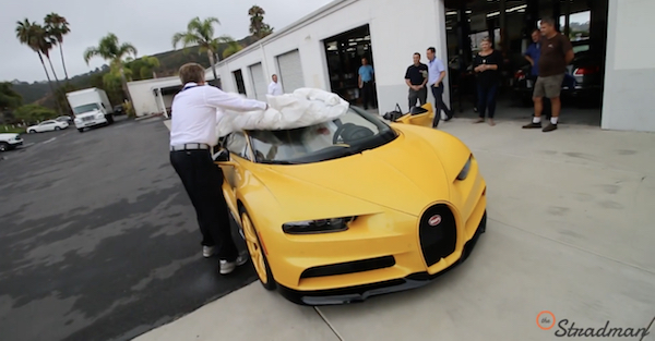 Unwrapping a new Bugatti is the not something you will ever get to experience