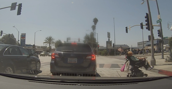 LA drivers just can't stop showing off in intersections