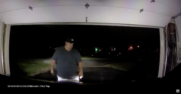 Tesla ruthlessly attacks, destroys garage door