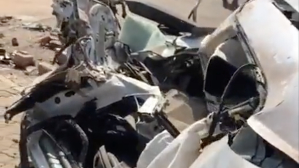 This Audi TT flying through the air is the craziest wreck outside of a movie