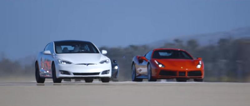 You won't believe which car beat a Ferrari 488 GTB in a quarter-mile drag race