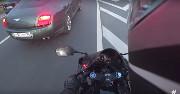 Biker Chases Down Bentley Owner for Littering