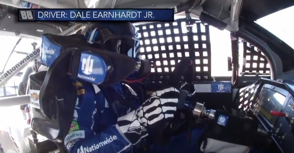 Dale Earnhardt Jr. lost his cool during a confusing race at Kansas Speedway