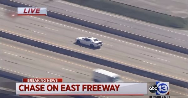 A 707 horsepower stolen car makes for a wild police chase
