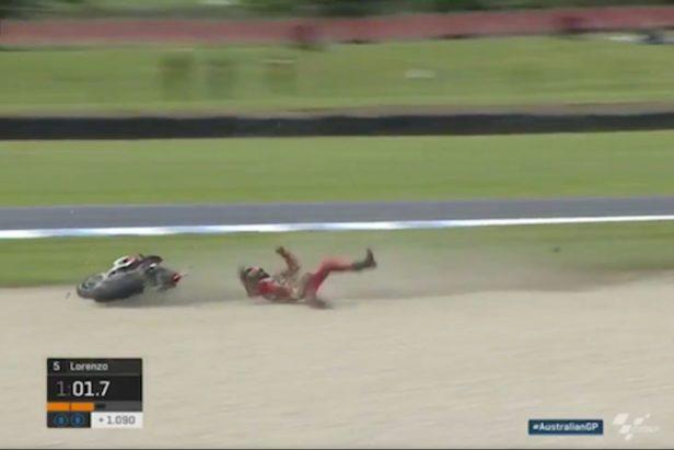 MotoGP Champ Somehow Gets Up After High-Speed Crash on Wet Track