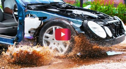 What Driving Through Potholes Looks Like in Slow Motion