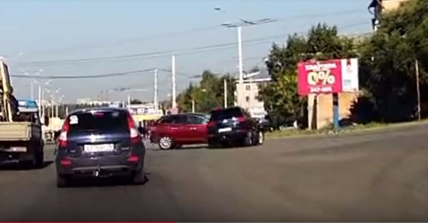 Take a look at this rare double instant-karma wreck