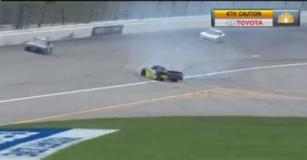 Another spin out at Kansas brings out another caution