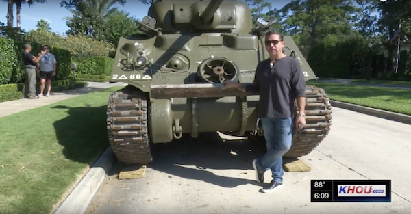 Home owners association not happy with this WWII Tank parked on the street