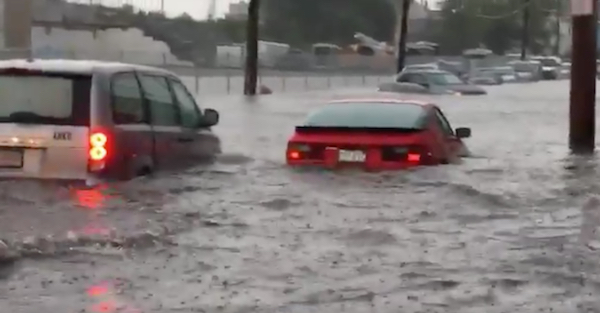 Watch this Porsche driver who is literally in too deep