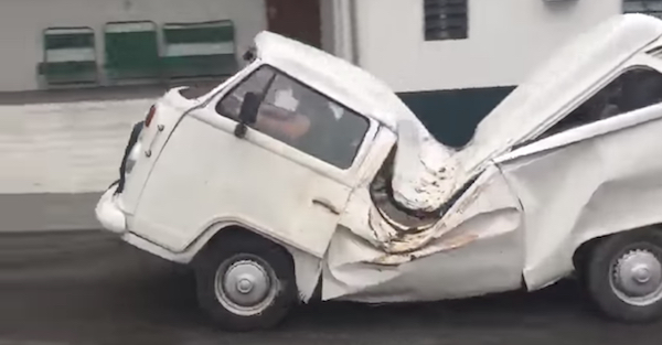 How in the hell did this happen to this Volkswagen?