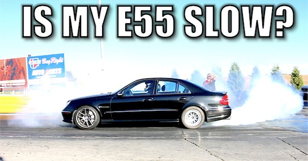 The Mercedes E55 AMG heads to the drag strip to try and run 11s