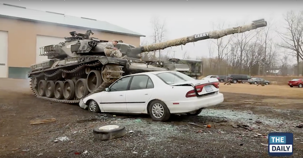 For $550 this place will let you drive a tank over a car. Oh, and shoot a bunch of guns.
