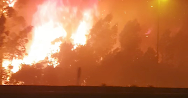 This Is How Fast a Wildfire Engulfs a Car from a Dash Cam's View