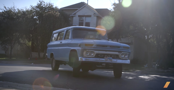 The 1964 GMC Carryall is a sight to behold