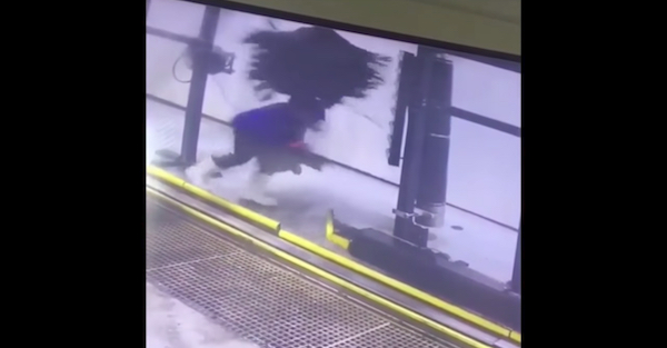 In the definition of a bad day, man gets stuck in a car wash when he's not in his car