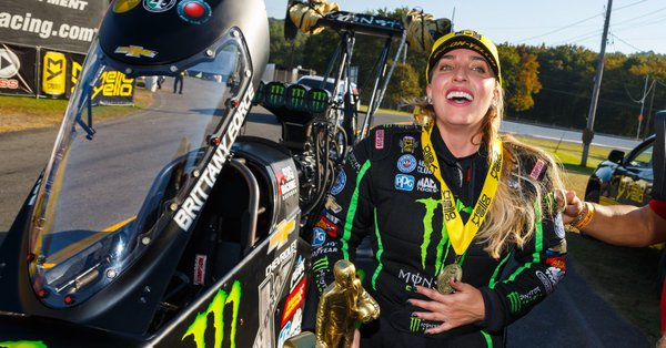 Brittany Force, injured in a nasty wreck on the track, gets some more news about her health