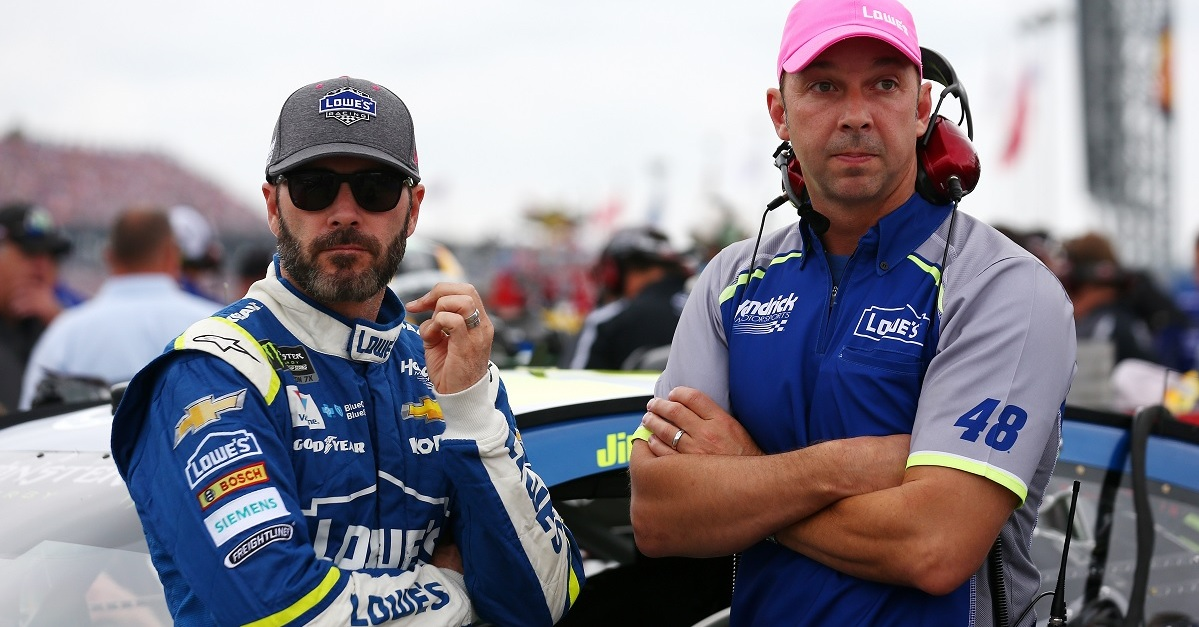 Jimmie Johnson and Chad Knaus have tense back and forth over radio in Phoenix