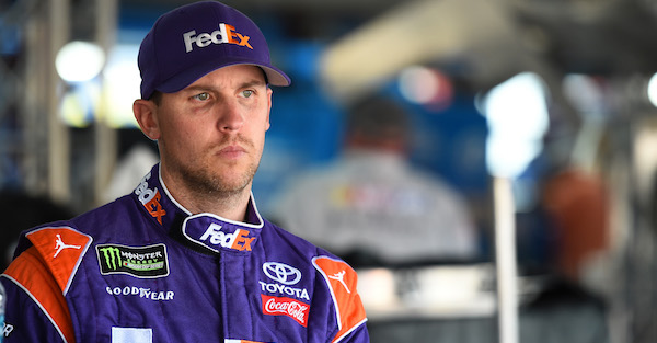 Just months after infuriating one young driver, Denny Hamlin's done it again