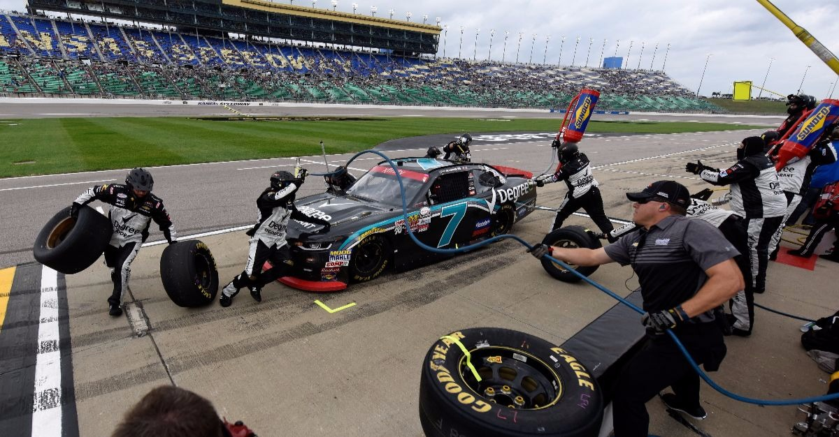 Now we know why JR Motorsports pit crew never showed up