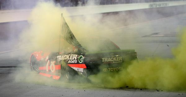 Martin Truex Jr. thought he was going to choke to death after winning the championship
