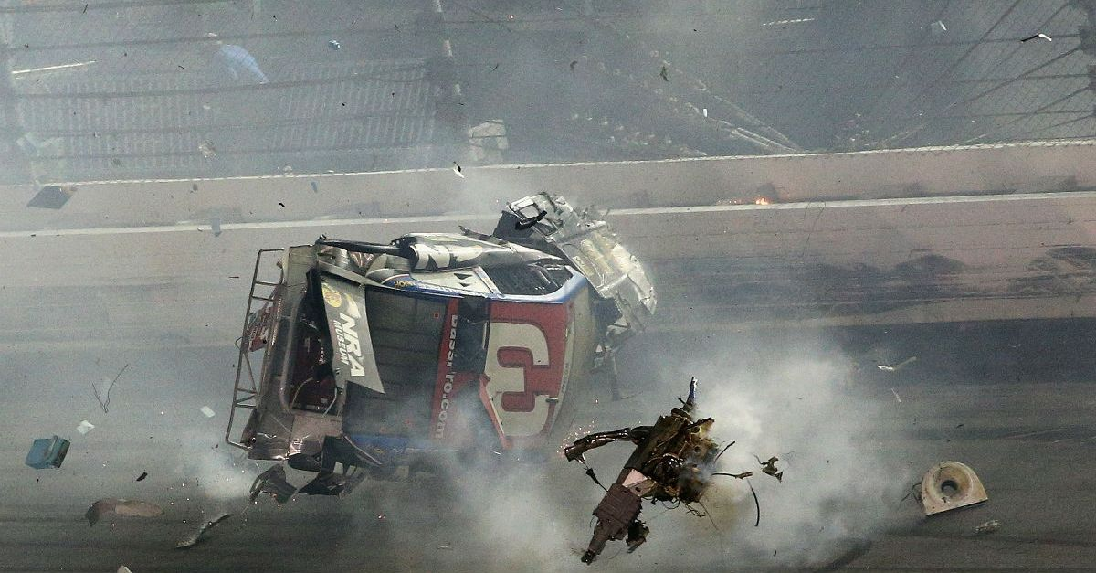 Two men sue NASCAR and Daytona claiming they were hurt during a crash at the track