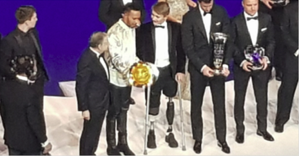 Billy Monger lost both his legs in a crash on the track and months later, proves he's a champ