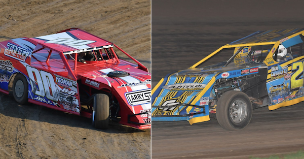 Two dirt track racers were honored at the annual NASCAR Awards Banquet