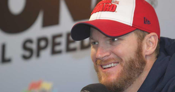 Dale Earnhardt Jr. starts his broadcast career at the Super Bowl in style