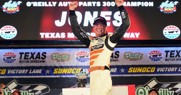 Erik Jones does a first-class job honoring the drivers who came before him