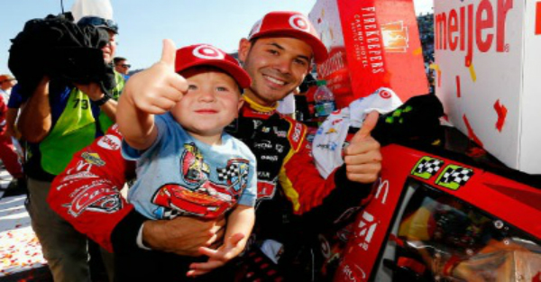 Kyle Larson says his 2-year-old son learned an NSFW word from a NASCAR legend