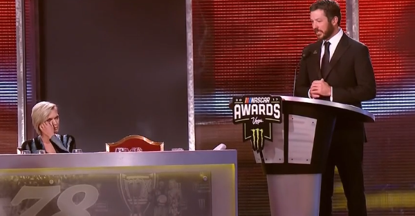 Martin Truex Jr., in a classy speech, says he's not the real champion