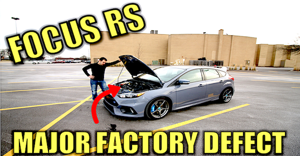 The Ford Focus RS has a major engine problem that could cost Ford millions