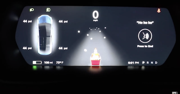 Tesla owners discovered a new Easter egg over the holidays