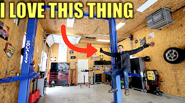 How Much a Three-Car Garage with a Two-Post Lift Costs