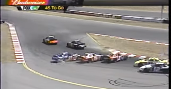Do you remember the prettiest three car wreck in NASCAR history?