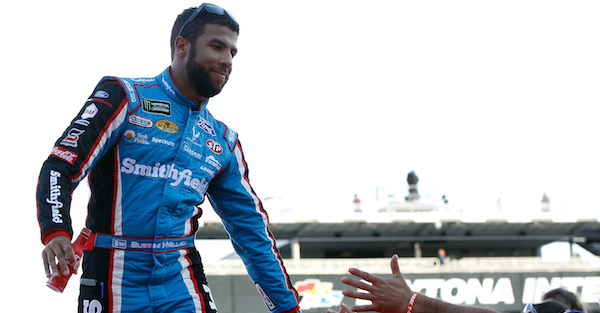 Bubba Wallace puts on the moves and issues a challenge to his buddy