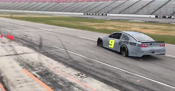 This is the first look at NASCAR's new Camaro on the track