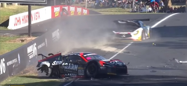 Driver survives horrendous wreck on the track, gets trophy in hospital